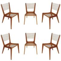 Set of Six Jacques Guillon Mid-Century Modern String ...