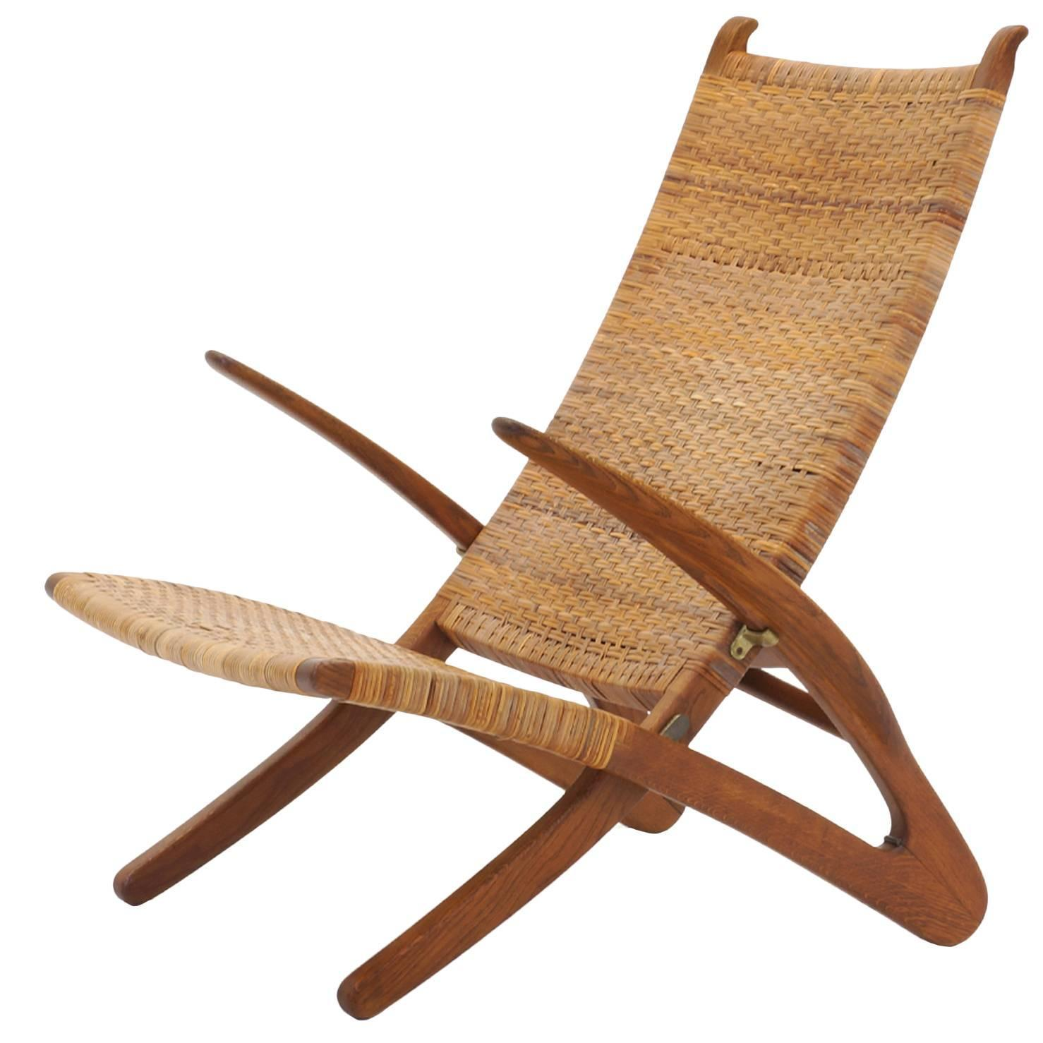 Hans Wegner Folding Chair Rare Hans Wegner Dolphin Folding Lounge Chair Johannes