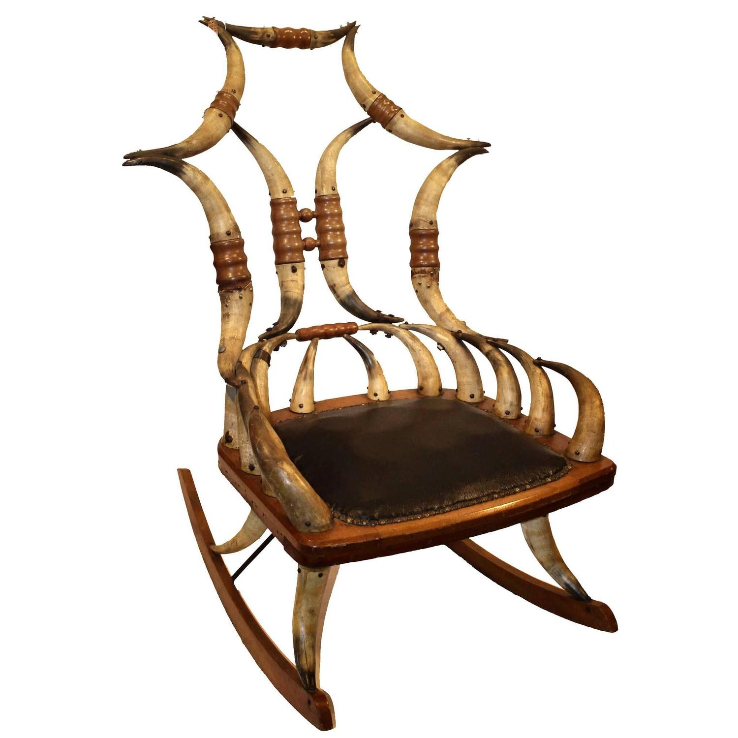 rocking chair realty tables and chairs for restaurants second hand mid 19th century horn rocker sale at 1stdibs