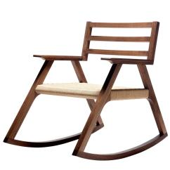 Woven Rocking Chair Small Table And Chairs For Garden Giacomo Walnut Paper Cord