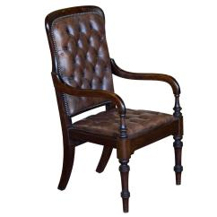 Gentlemans Chair French Bistro Antique Leather Gainsborough Gentleman 39s Library At