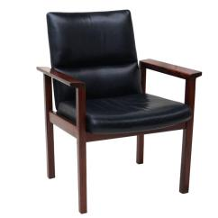 Office Side Chair Sit Stand Test Mid Century Danish Modern Rosewood Desk Armchair For Sale