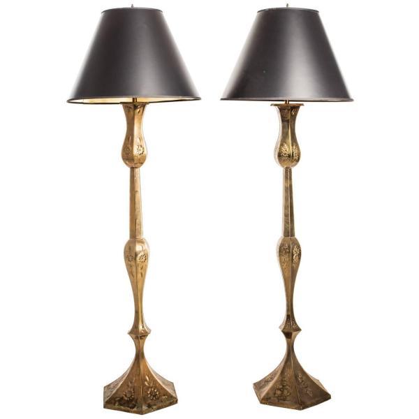 Repouss Floor Lamps 1stdibs