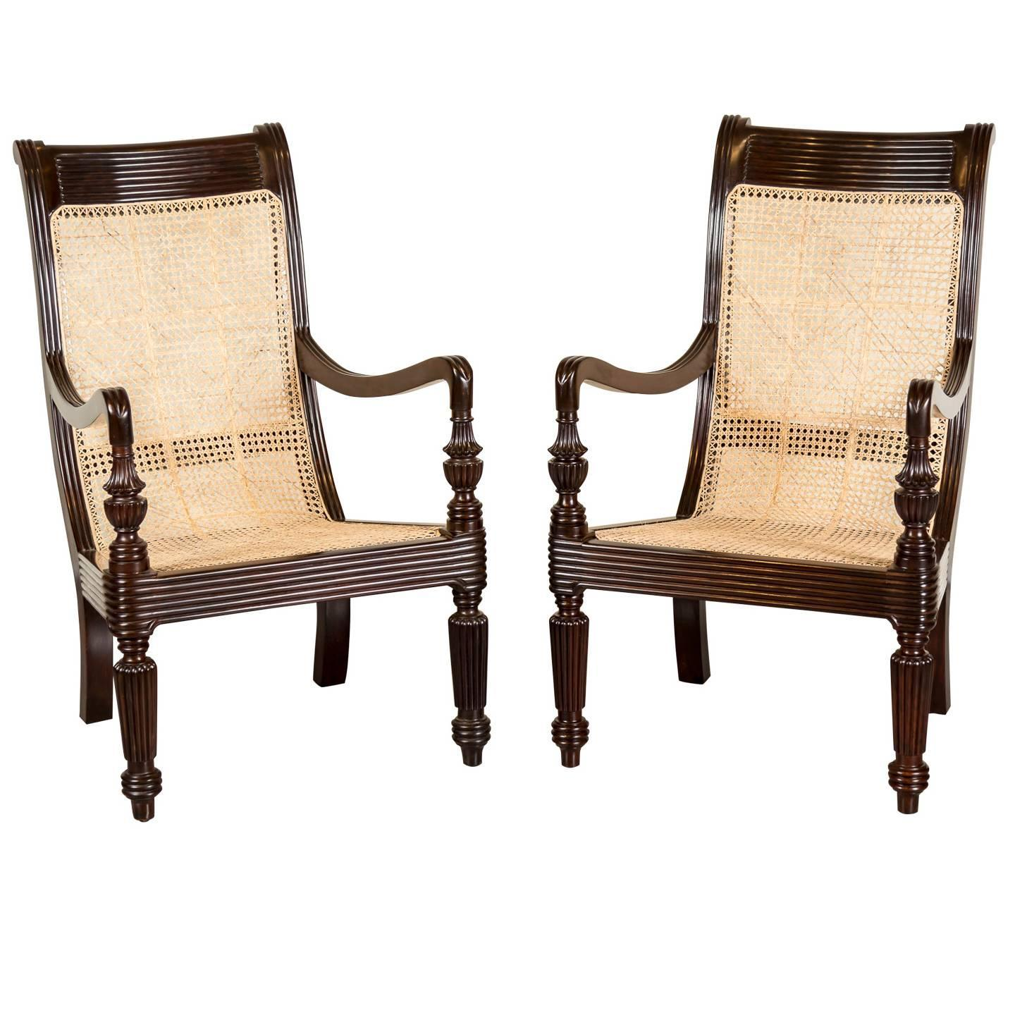 british colonial chair kitchen table chairs set pair of antique anglo indian or rosewood
