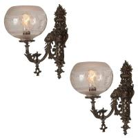 Highly Ornate Victorian Wall Sconce, Pair, circa 1885 at