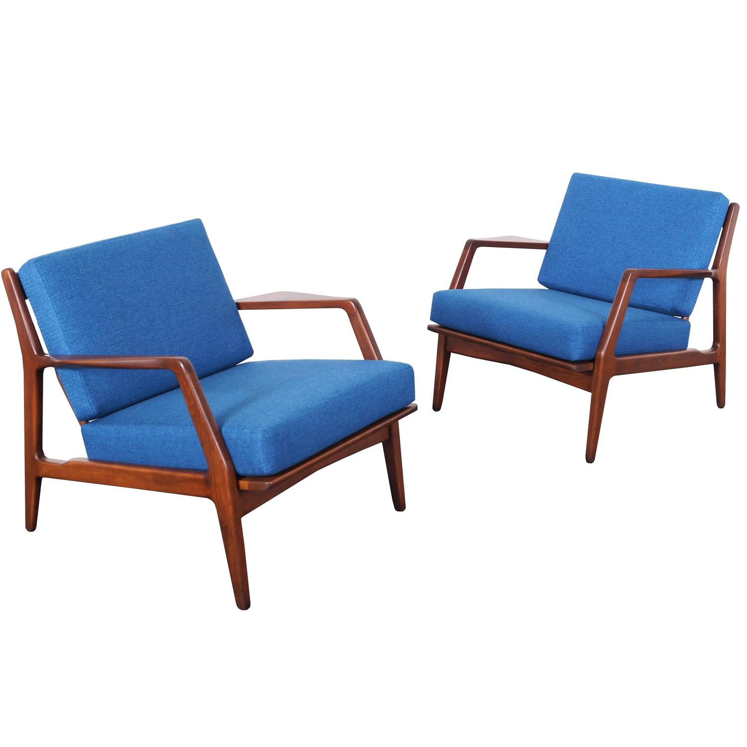 Modern Club Chairs Mid Century Lounge Chairs By Ib Kofod Larsen For Sale At