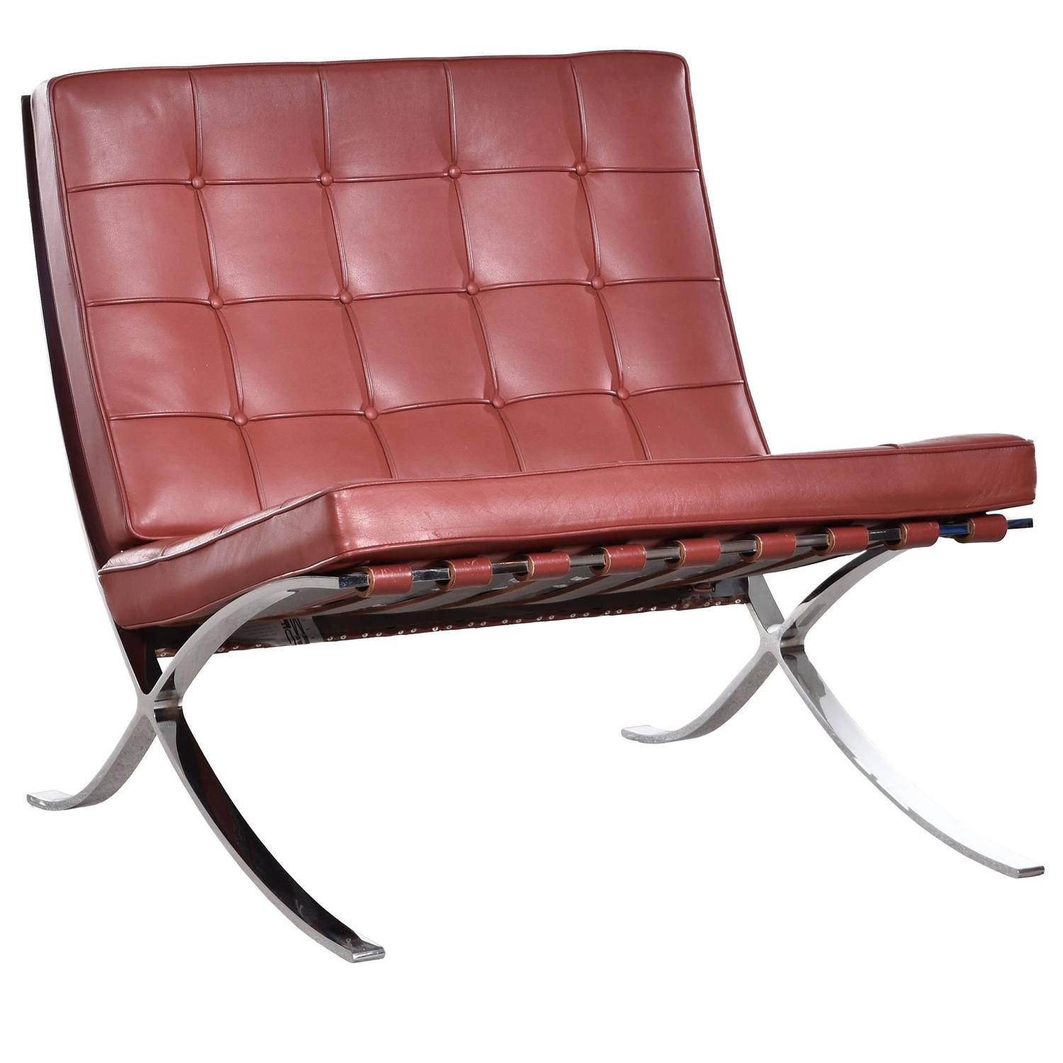 Barcelona Lounge Chair Barcelona Chair By Ludwig Mies Van Der Rohe For Knoll For