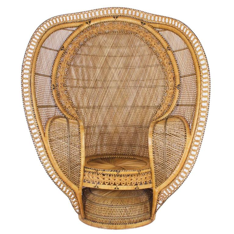 rattan peacock chair cool desk chairs for girls 1930 s sale at 1stdibs