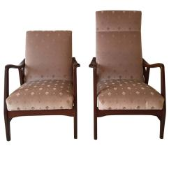 Z Shaped High Chair How Much Are Covers And Sashes Pair Of Massive Teak Organic Lounge Chairs By