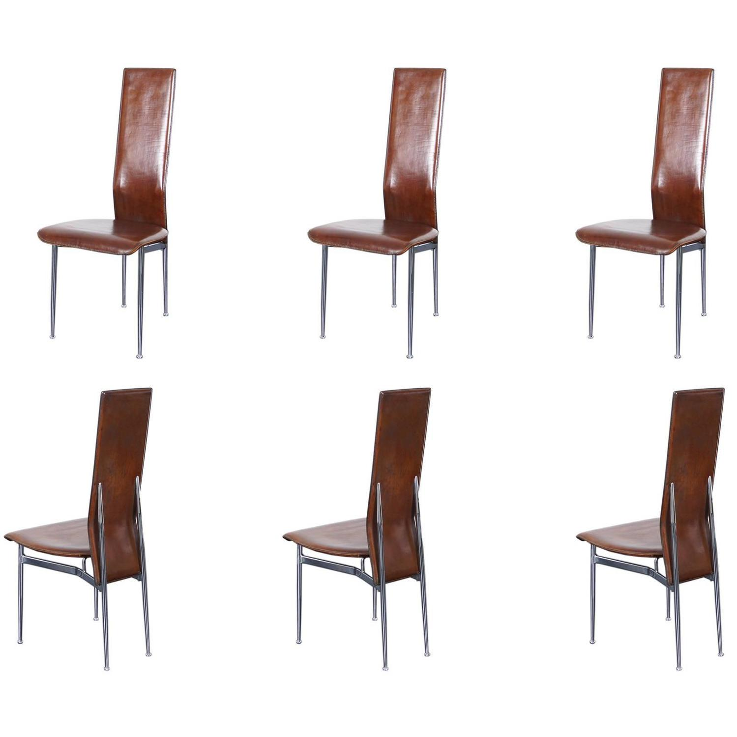 Italian Dining Chairs Italian Leather Dining Chairs For Sale At 1stdibs
