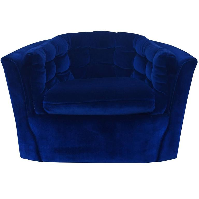 royal blue chairs target baby high chair velvet mid century modern swivel at 1stdibs for sale
