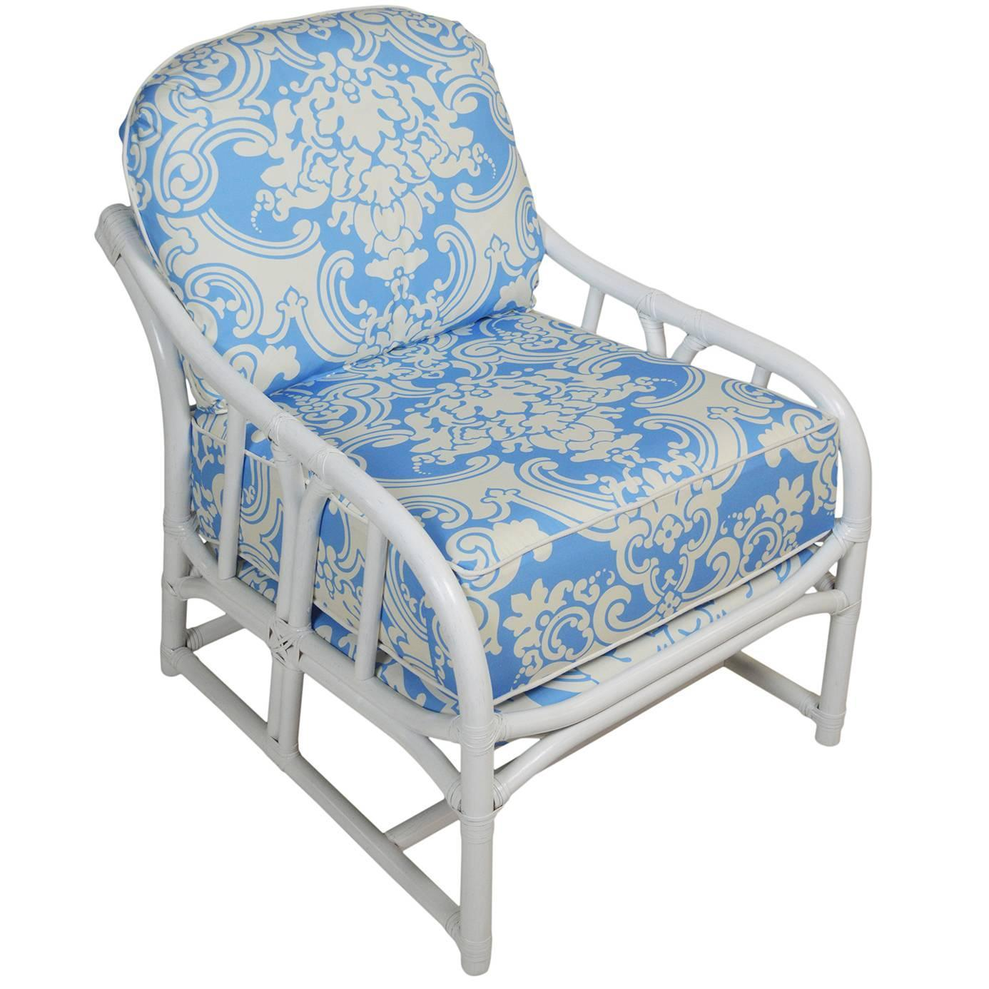 ficks reed chair luxury christmas covers scalamandre lounger for sale at 1stdibs