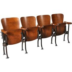 Movie Chairs For Sale Wheelchair Bus Vintage Original Wood And Steel Folding Theater Seats