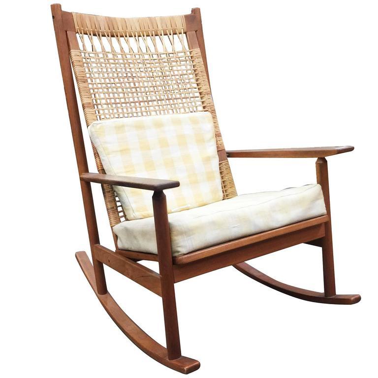 danish modern rocking chair sofa cover chairs by hans olsen for juul kristiansen sale