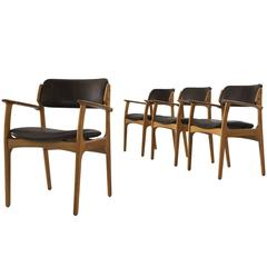 erik buck chairs increase chair height teak dining set of four at 1stdibs