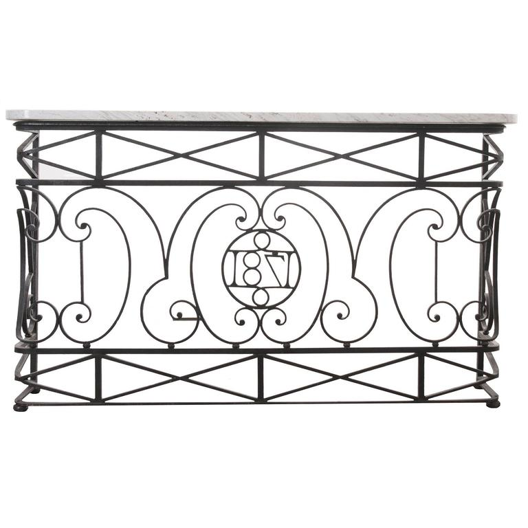 18th Century Wrought Iron Console For Sale at 1stdibs