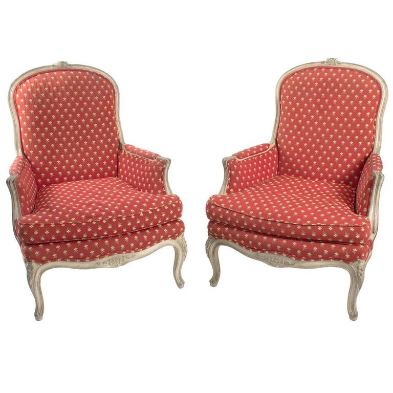 bergere chairs for sale folding home depot floral print at 1stdibs