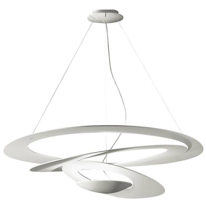 White Pirce Suspension Light By G M Scutella For Artemide Italy At 1stdibs