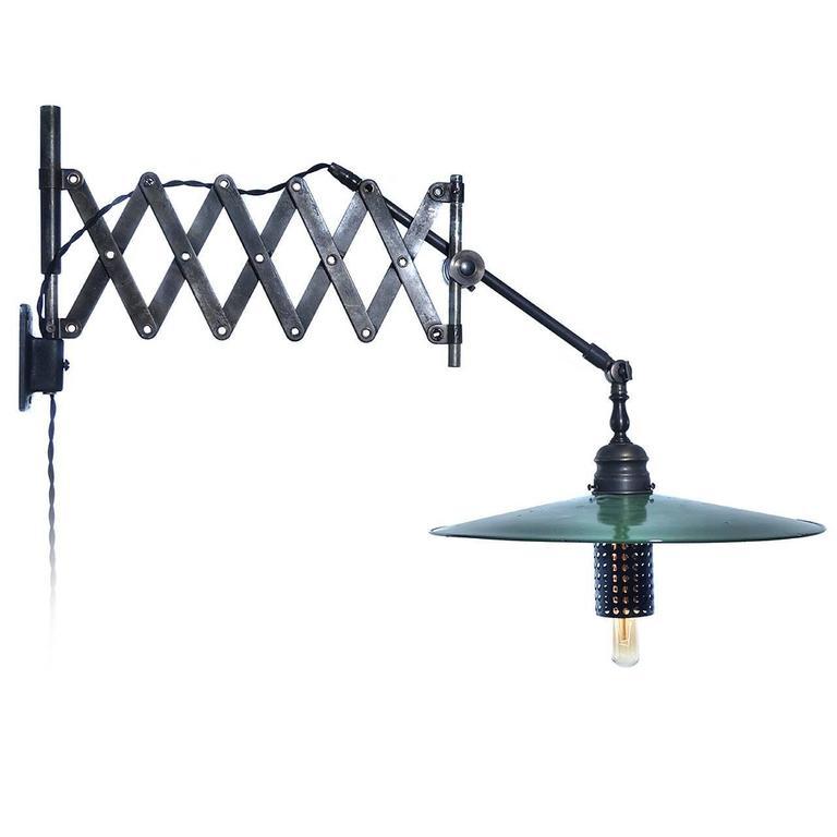 Articulated Scissor Desk Lamp For Sale at 1stdibs