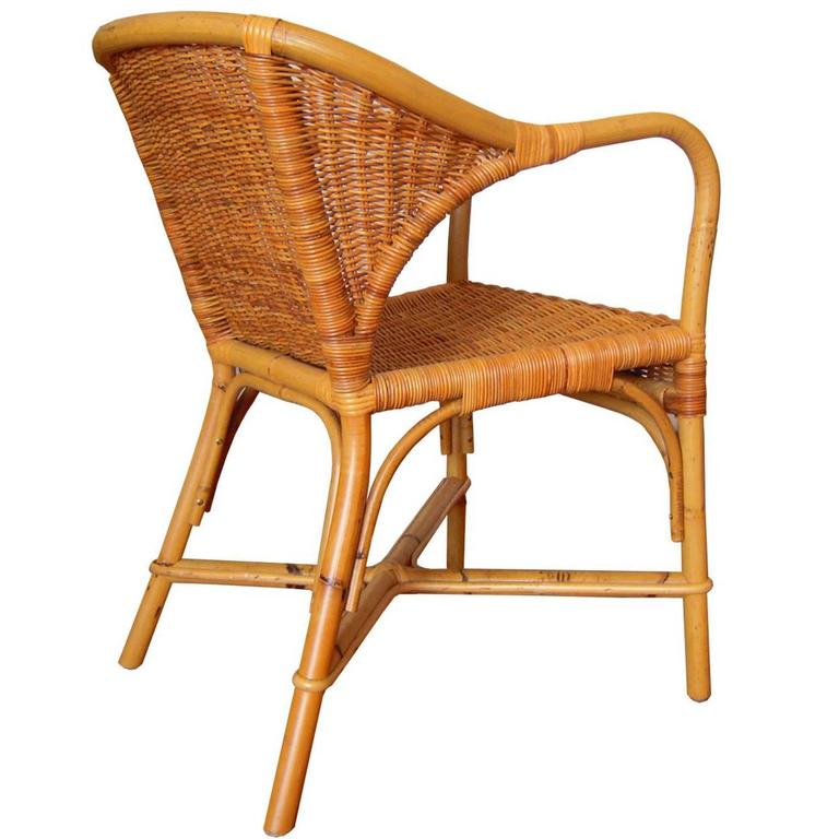 wicker wingback chairs stackable banquet gae aulenti set of 4 italian at 1stdibs for sale