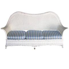 White Wicker Sofa For Sale Bed With Chaise Nz 1930s American At 1stdibs