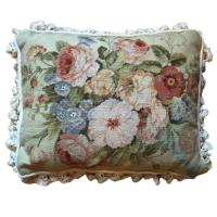 Decorative Pillows, Vintage French Style Aubusson Pillow ...