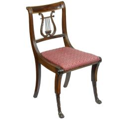 Duncan Phyfe Chairs Hang Around Chair Mahogany Classical Lyre Side New York