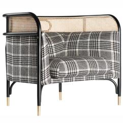 Contemporary Lounge Chairs Wood Targa Chair With Woven Cane Edge For Sale