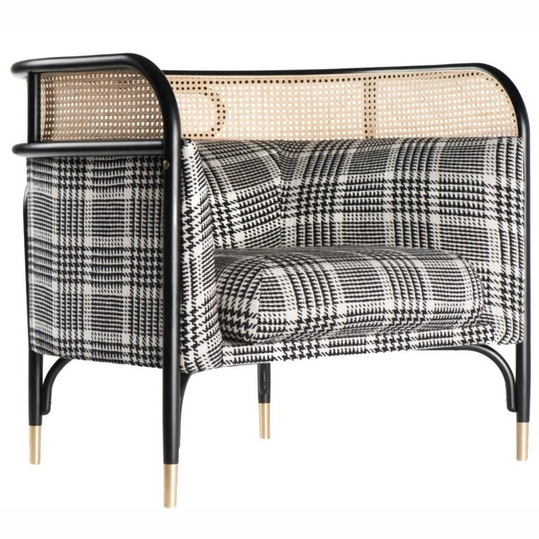contemporary lounge chairs poul jensen chair targa with woven cane edge for sale