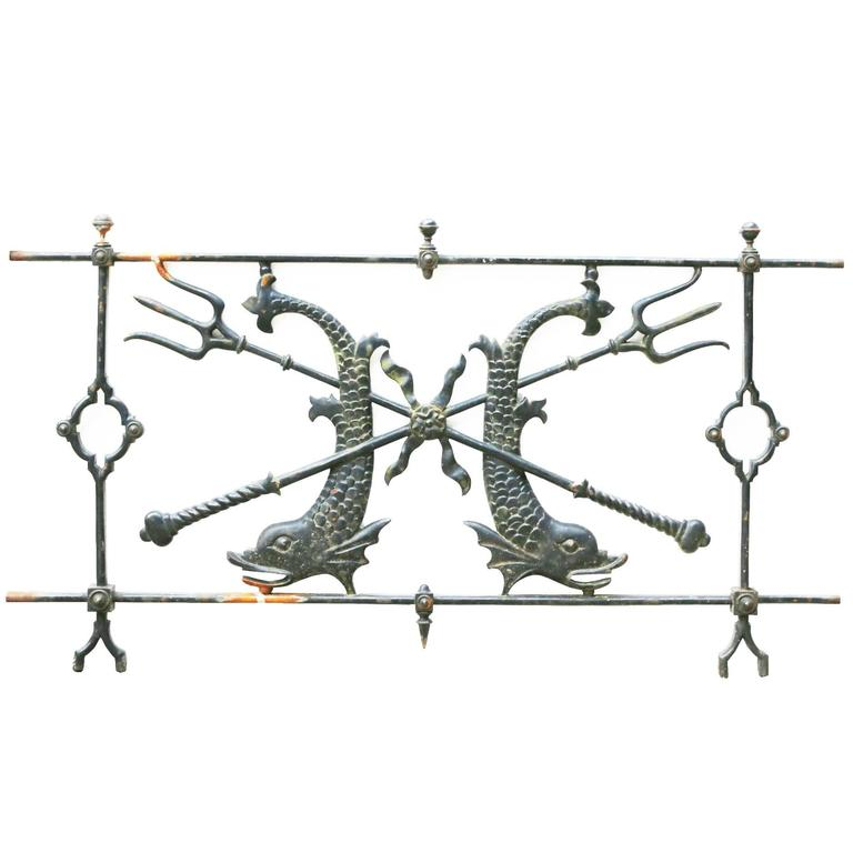 Four 19th Century Italian Neoclassical Style Low Iron