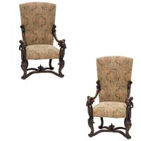 19th Century Venetian Baroque Armchairs For Sale at 1stdibs