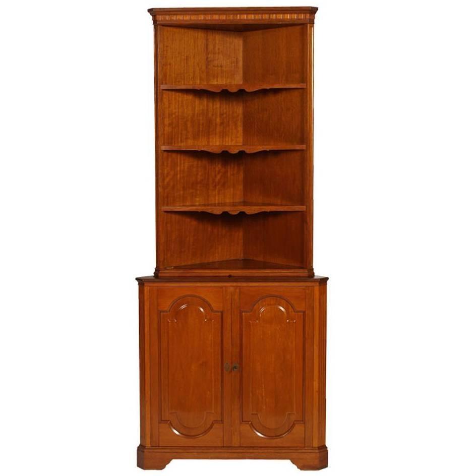 Danish Rosewood Mid Century Corner Cabinet by Agner