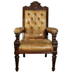 Gentlemans Chair Design Lounge Icaew Gentleman S Walnut And Leather Edwardian For Sale At 1stdibs