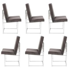 Milo Baughman Dining Chairs Small Massage Chair Room 92 For Sale At 1stdibs Set Of Six Thayer Coggin Circa 1980