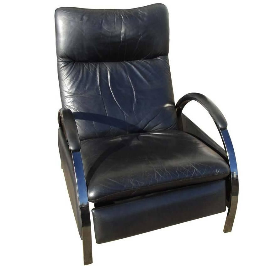 american leather swing chair gray vintage dia milo baughman reclining lounge for sale at 1stdibs