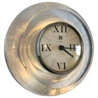 Round Midcentury Lucite Desk Clock or Mantle Clock, by F ...