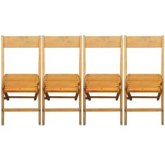 Wooden Folding Chairs For Sale Chair Decorations Set Of 4 Vintage Wood Many Available Total 470 Avail