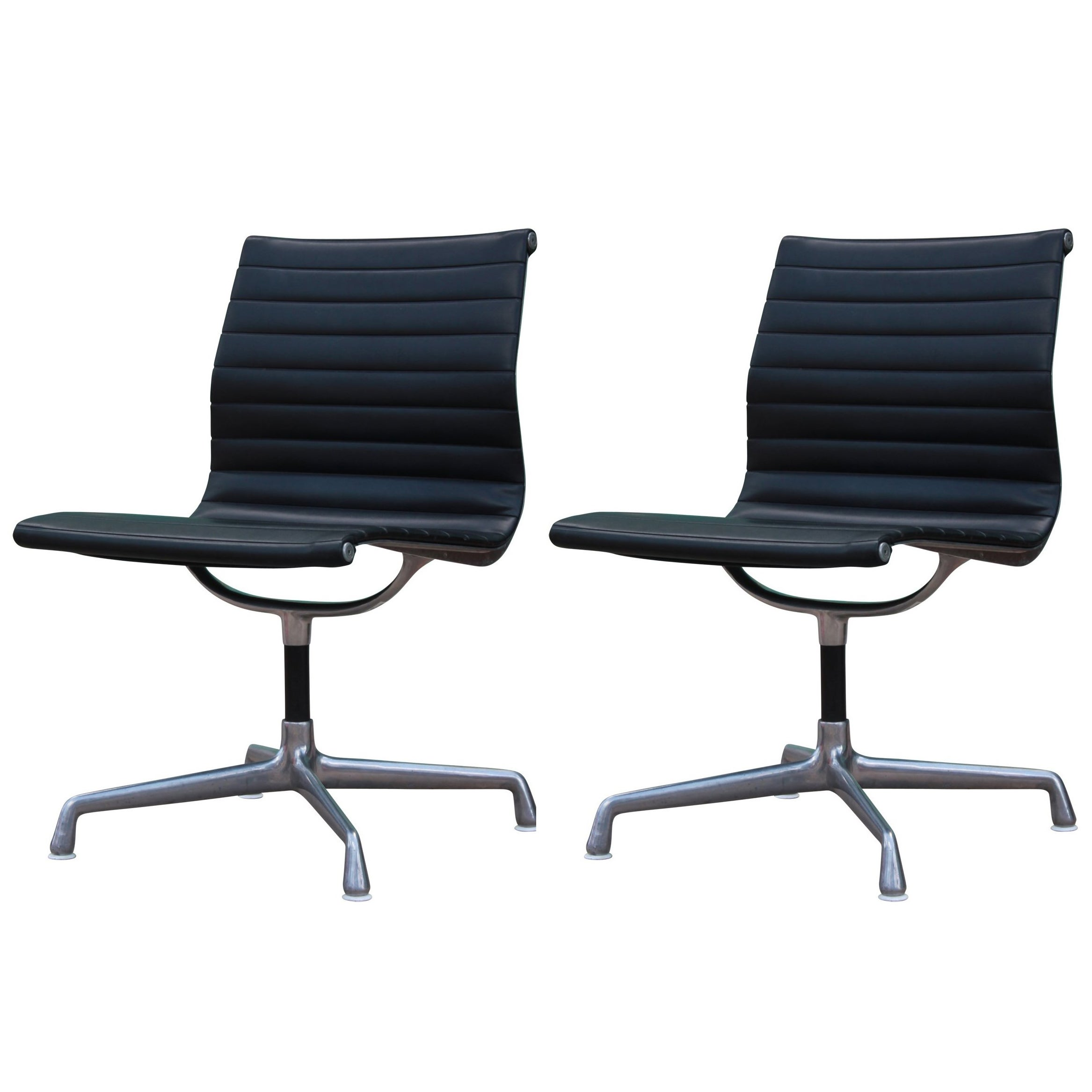 Herman Miller Office Chair Pair Of Herman Miller Aluminum Group Armless Office Chairs