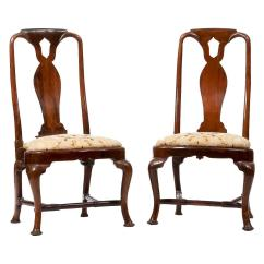 Shoe Shaped Chair Rocking Drawing 18th Century Queen Anne Side Chairs For Sale At 1stdibs