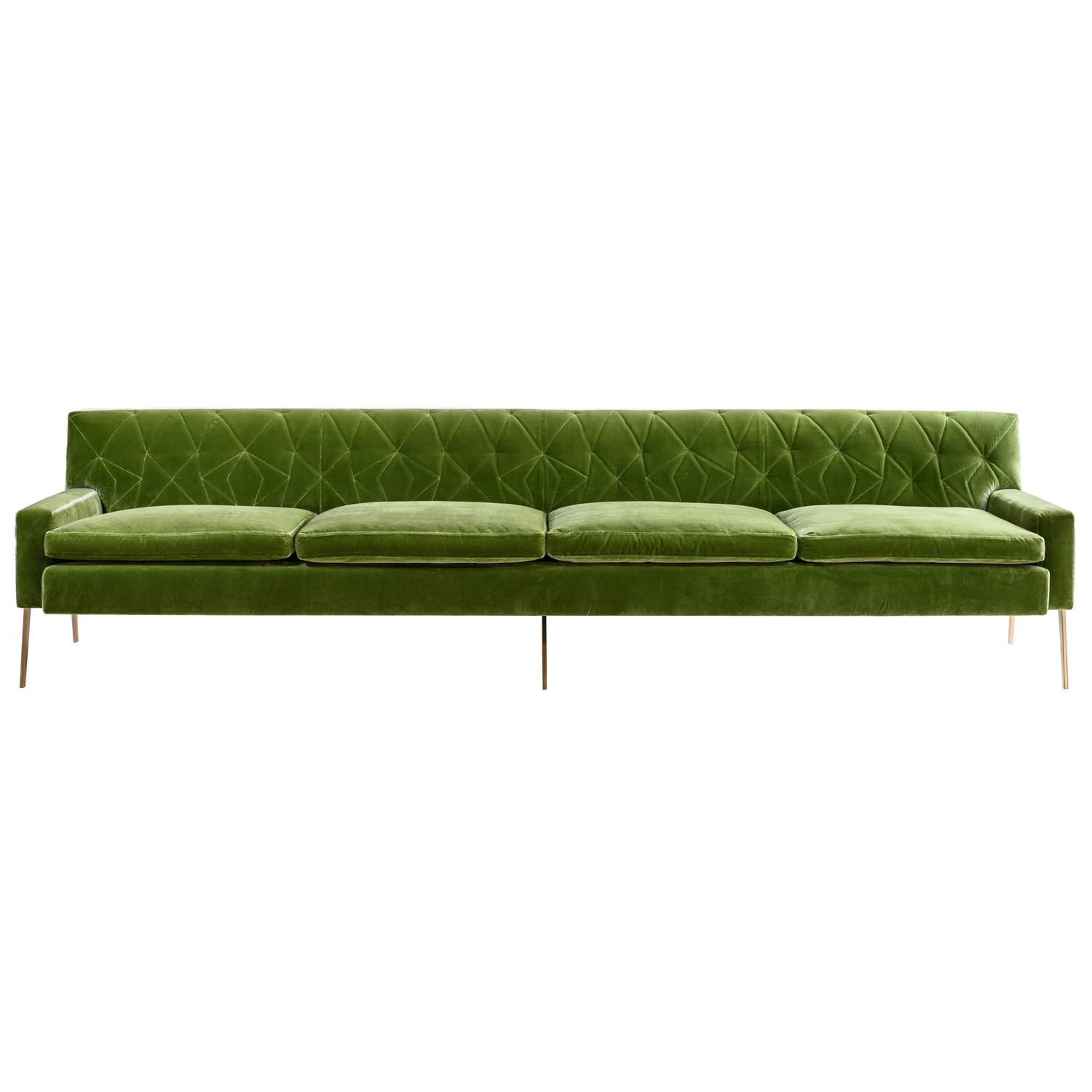 pink tufted sofa for sale wilson set mayweather with silk velvet back in fuchsia