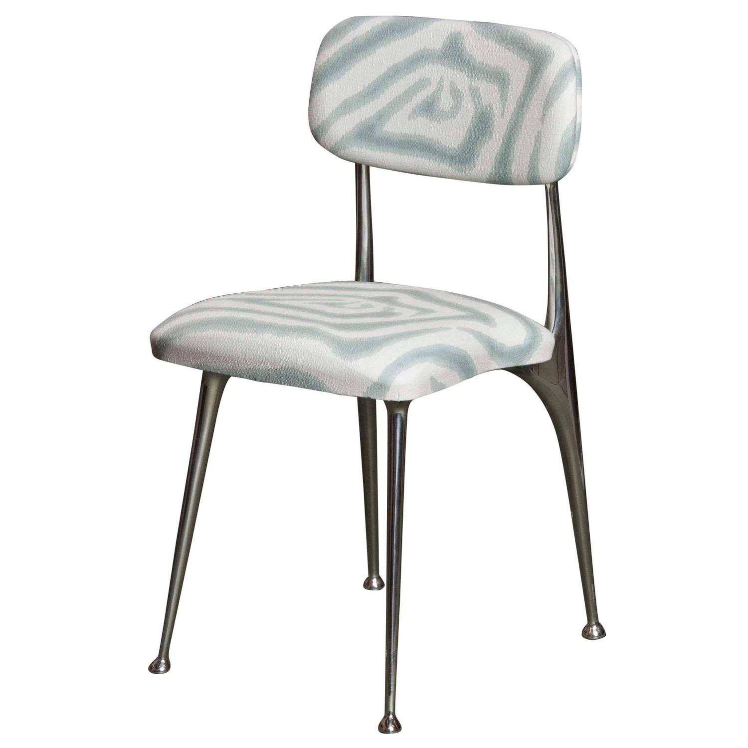 shelby williams chairs teal chair covers for wedding set of 8 polished aluminum dining by