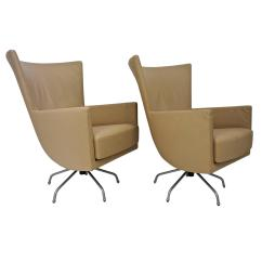 Modern Leather Swivel Lounge Chair Walmart Pair Of Italian Chairs Upholstered