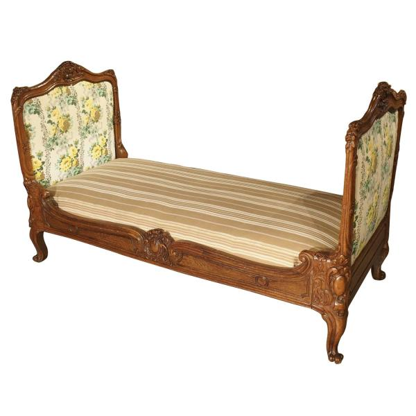 Antique Carved Wood Daybed