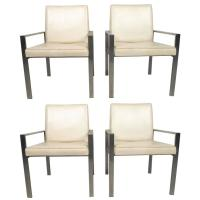 Stylish Mid-Century Aluminum Frame Dining Chairs For Sale ...
