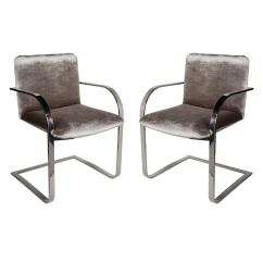 Office Side Chairs Motel For Sale Pair Of Mid Century Modern Or By Brueton