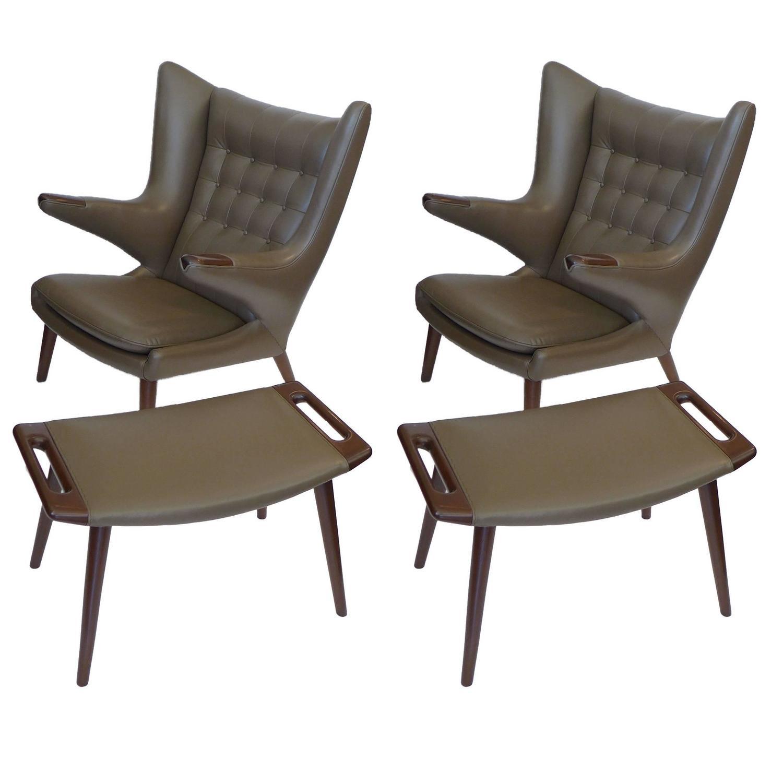 papa bear chair camping folding chairs walmart pair of early original hans wegner w