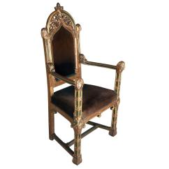 Gothic Chairs Uk Hanging Chair Bed Unusual Revival Carved Giltwood And Painted