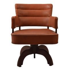 Swivel Chair Office Warehouse Gaming Design Art Deco Desk At 1stdibs