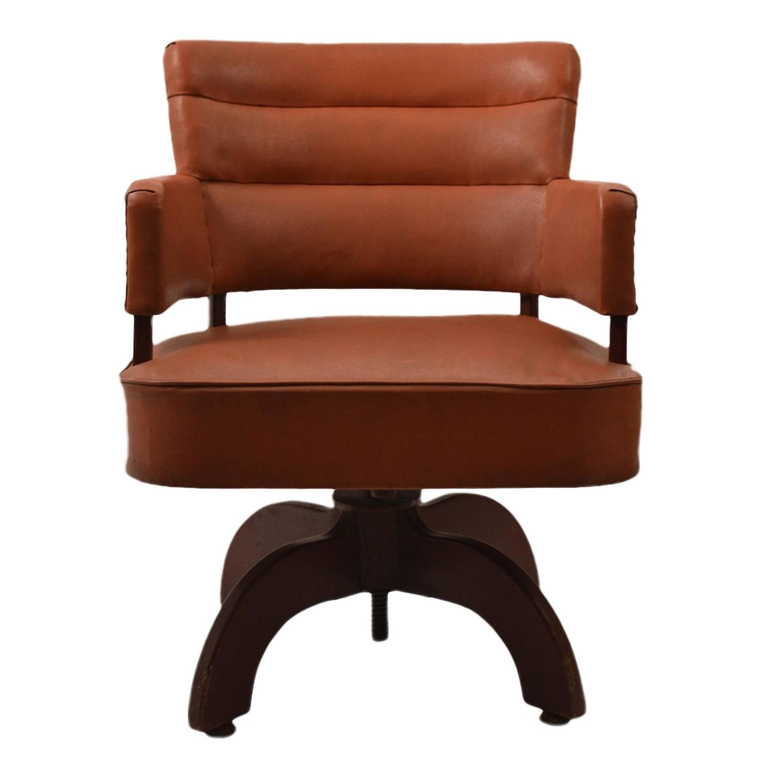 Swivel Desk Chairs Art Deco Swivel Desk Chair At 1stdibs