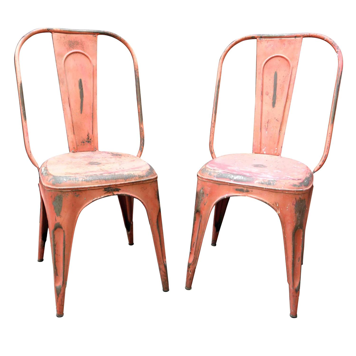 Cafe Chairs For Sale 1950s French Metal Industrial Stacking Café Bistro Chairs